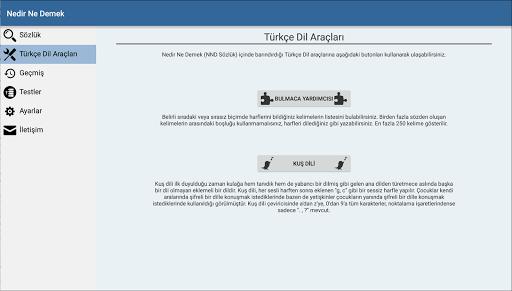 حمّل مجانًا Nedir Ne Demek (Türkçe Sözlük) حزمة تطبيق أندرويد الخاصة بنظام  الأندرويد